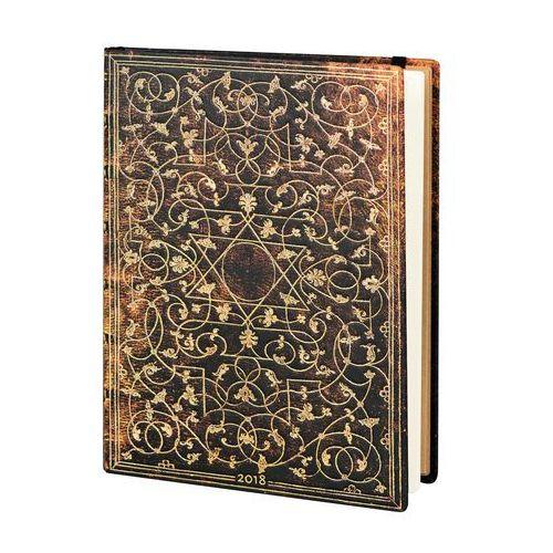 Kalendarz książkowy ultra 2018 12M hor. Grolier (9781439742723)