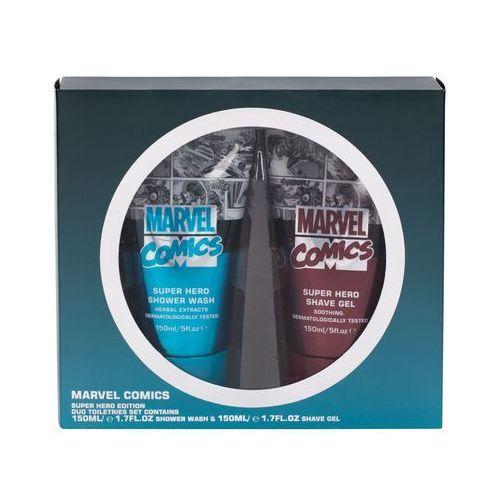 Marvel comics hero zestaw żel pod prysznic 150 ml + żel do golenia 150 ml dla mężczyzn (5013692237352)