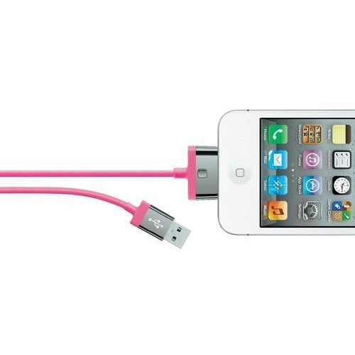 Kabel usb 2.0,  f8j041cw2m-pnk, do ipoda, iphone'a, ipada, 2 m, różowy od producenta Belkin