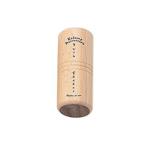 Rohema percussion 61622 twin shaker beech/rosewood instrument perkusyjny