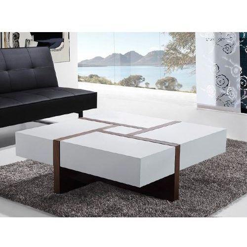 Nowoczesny stolik kawowy - ława - szuflady - 100 x 100 - EVORA, marki Beliani do zakupu w Beliani