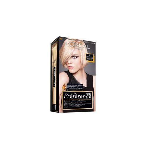 Feria Preference farba do włosów 92 Iridescent Blonde Bardzo jasny blond beżowo-perłowy, L'Oreal Paris z Tagomago.pl