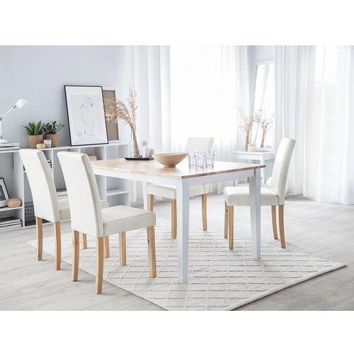 Beliani Zestaw 2 krzeseł do jadalni biały broadway