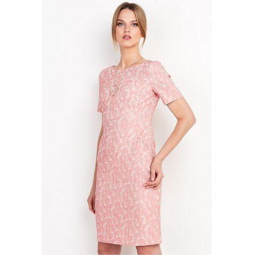 d0aa22c060 Dopasowana sukienka z żakardowej tkaniny - Patrizia Aryton