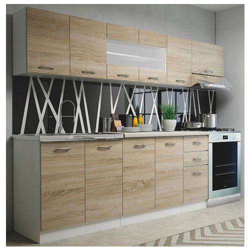 Producent: elior Zestaw mebli kuchennych viena - dąb sonoma + biały