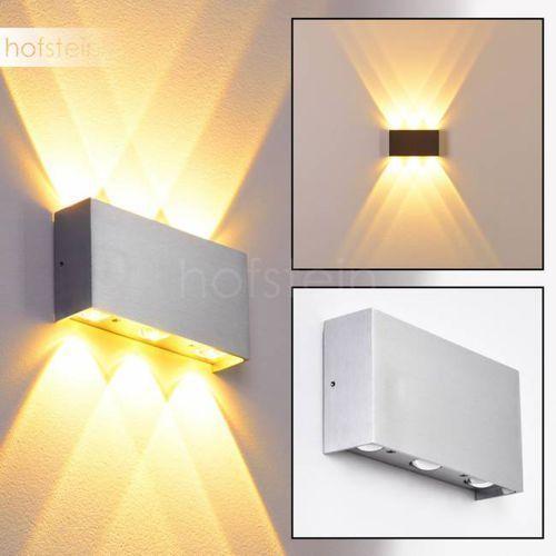 Hofstein B-leuchten lente lampa ścienna led aluminium, 6-punktowe - nowoczesny/design - obszar wewnętrzny/obszar zewnętrzny - lente - czas dostawy: od 3-6 dni roboczych