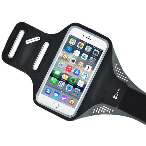 Armband do biegania opaska na ramię Samsung iPhone LG HTC Huawei M 4.7 cala czarny, 21550 (10498646)