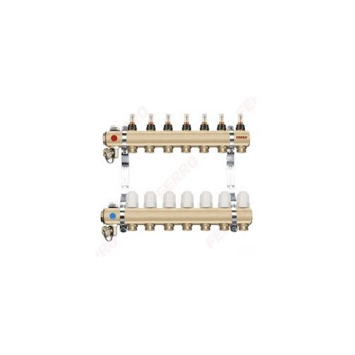 """Ferro Rozdzielacz typ RZP1"""" RZP07 S 7-drogowy zawór termostatyczny przepływomierze DO OGRZEWANIA PODŁOGOWEGO RZP07S"""
