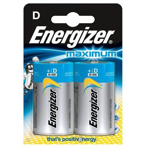 Energizer Bateria maximum alkaliczna d lr20 2 szt. blister