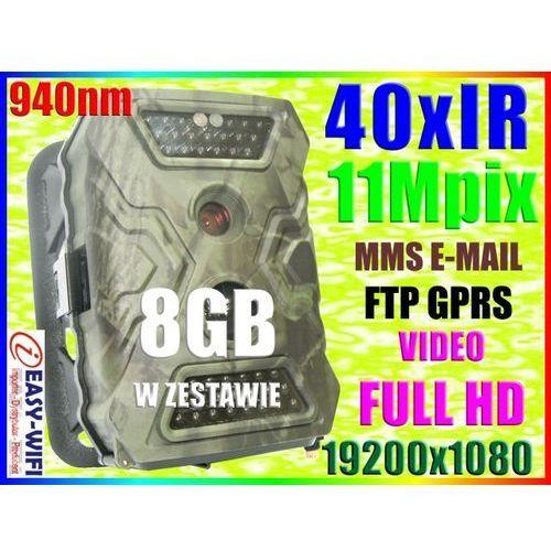 KAMERA LEŚNA MYŚLIWSKA FOTOPUŁAPKA FULLHD MMS +8GB (kamera monitoringowa)