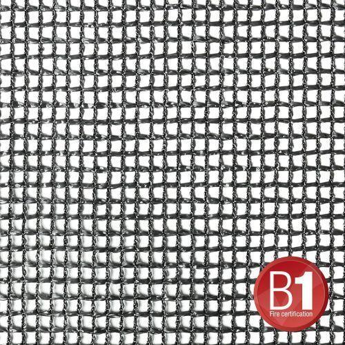 Adam hall 0156 x 56 b - gaza typu 201, 5 x 6 m, z oczkami, czarna