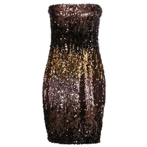 90bf3ea663 Sukienka z cekinami złocisto-brązowo-czarny marki Bonprix 99