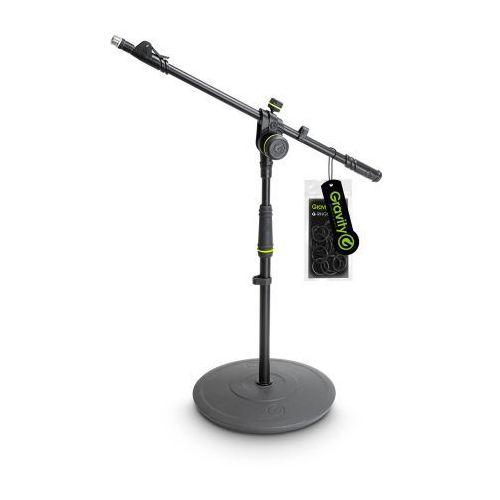 Gravity MS 2222 B Statyw mikrofonowy, krótki, z okrągłą podstawą i dwupunktową regulacją wysięgnika wysuwanego