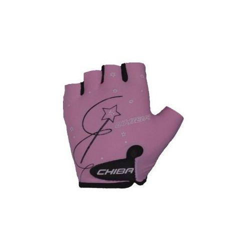 Rękawiczki  Girls dziecięce różowe r.M, Chiba z SPORT-PROFIT Rowery - Sklep Specjalistyczny