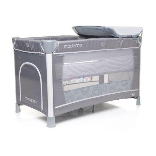 4baby łóżeczko turystyczne dwupoziomowe moderno szare
