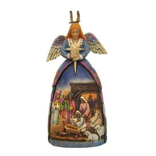 Jim shore Anioł zawieszka szopka, (angel nativity gown), 4005767 figurka ozdoba świąteczna
