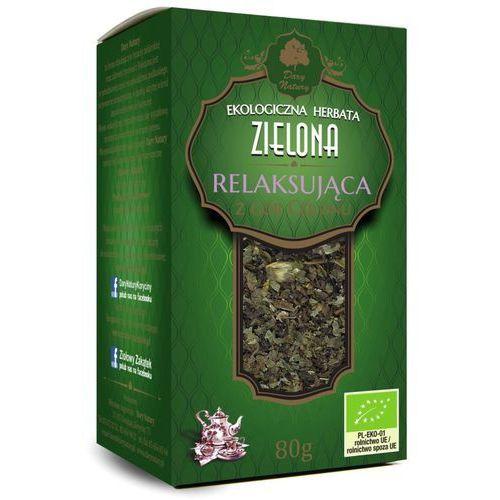 Herbata zielona relaksująca bio 80 g - dary natury marki Dary natury - test