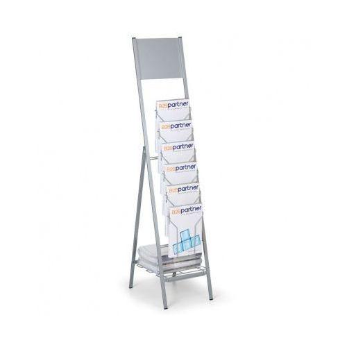 Składany stojak na ulotki, płyta do umieszczenia loga marki B2b partner