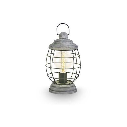 Stojąca lampka stołowa bampton 49289 druciana oprawa industrialna drut srebro antyczne marki Eglo