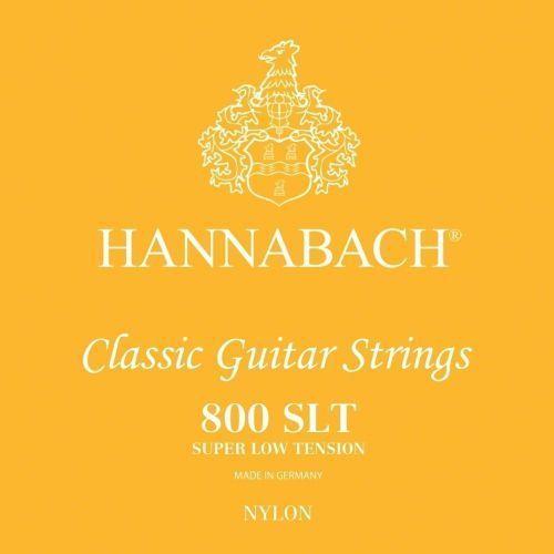 (652358) e800 slt struny do gitary klasycznej (super low) - komplet 3 strun basowych marki Hannabach