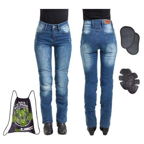 Damskie jeansowe spodnie motocyklowe panimali, niebieski, xl marki W-tec