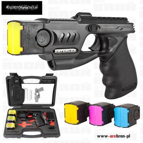 Paralizator strzelający PHAZZER ENFORCER + walizka + kabura + ładowarka + 3 kartridże, marki Phazzer - paralizatory do zakupu w www.arobron.pl