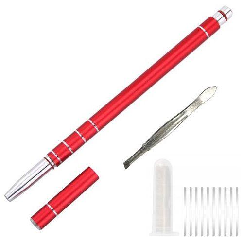 Brzytwa Razor Ołówek fryzjer Konturowania Włos RED