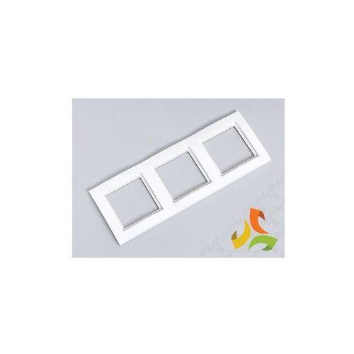 Ramka 3 trzykrotna (biały / krem)(Fiorena) - oferta (65bd22783721d215)