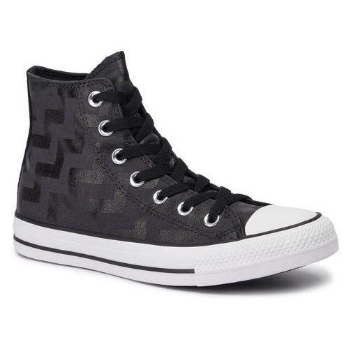 Trampki CONVERSE - Ctas Hi 565212C Black/Almost Blacxk, kolor czarny