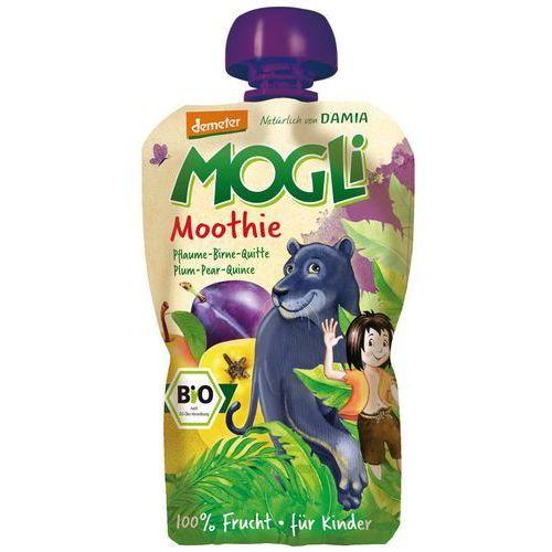 Mogli (moothie owocowe, batony, napoje) Moothie - przecier ze śliwką, gruszką i pigwą 100% owoców bez dodatku cukrów bio 100 g - mogli (4260311980675)