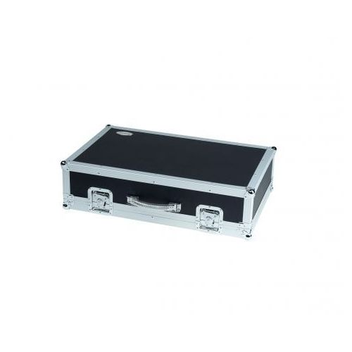Rockcase RC-23120-B Flight Case - Effects Pedalboard,76.5 x 48 x 8 cm / 30 1/8 x 18 7/8 x 3 1/8, black, removable lid, with integrated Power Supply, Pedalboard z zasilaniem