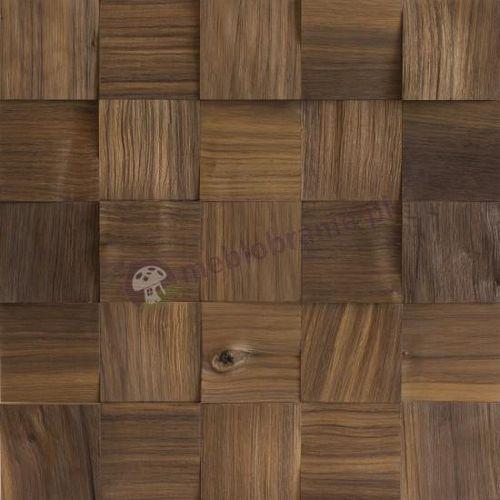Panele drewniane Orzech amerykański Kostka Łupana 3D *017 - Natural Wood Panel (panel ścienny)