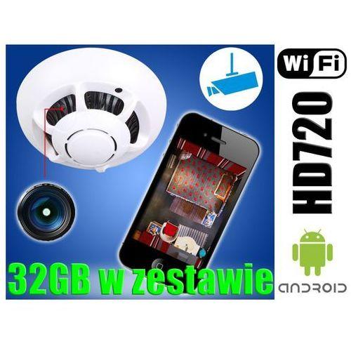 MINI UKRYTA KAMERA SZPIEGOWSKA 720P WiFi P2P +32GB (kamera monitoringowa)