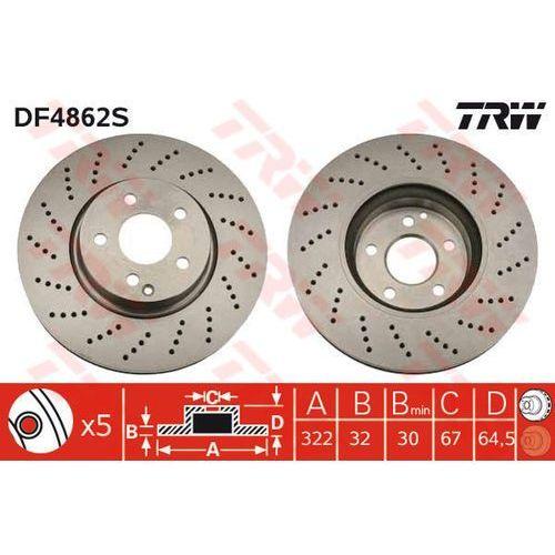 TARCZA HAM TRW DF4862S MERCEDES C280 07-, C320 CDI 07-, C350 07-, E200 CDI 09-, TRW DF4862S