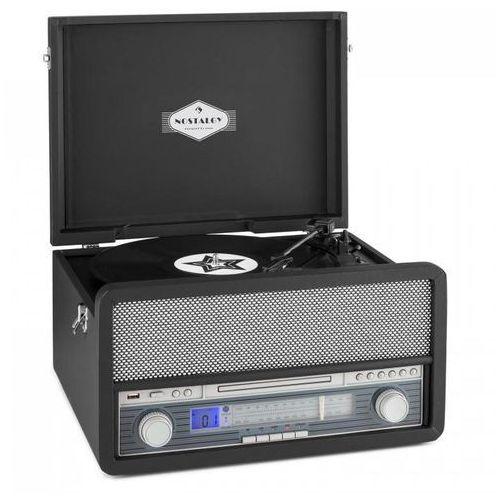 Auna Belle epoque 1970 zestaw stereo w stylu retro gramofon kasety bluetooth usb
