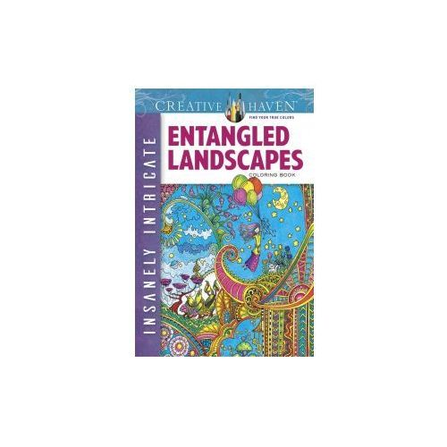 Creative Haven Insanely Intricate Entangled Landscapes Coloring Book, Porter, Angela