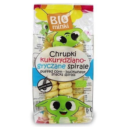 Chrupki kukurydziano-gryczane spirale bezglutenowe bio 60 g - biominki marki Biominki (przekąski dla dzieci)