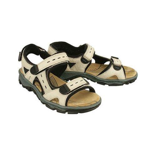 68872-60 beige combination, sandały damskie marki Rieker