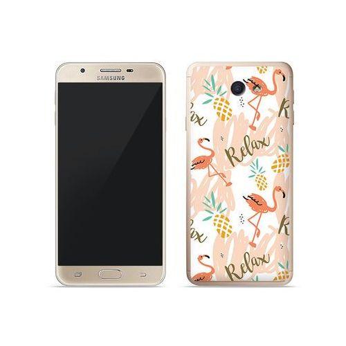 Samsung galaxy j7 prime - etui na telefon fantastic case - różowe flamingi marki Etuo fantastic case