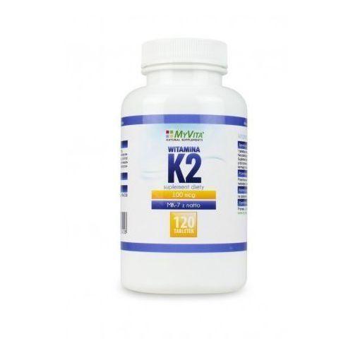 Witamina K2 MK-7 K2 MK7 100mcg z natto K2MK7 120 tabletek MyVita (5905279123458)