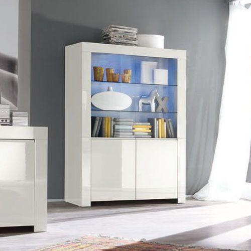 Amaretto biała włoska witryna szeroka 4d wysoki połysk marki Fato luxmeble