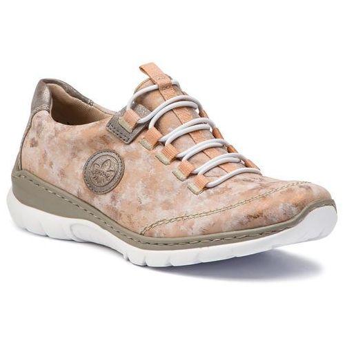 cc77ca5dbc24a Sneakersy RIEKER - L3253-31 Rosa, kolor różowy 259,00 zł komfortowy krój marki  Rieker. Do charakteru butów pasuje cholewka: skóra organiczna - skóra ...