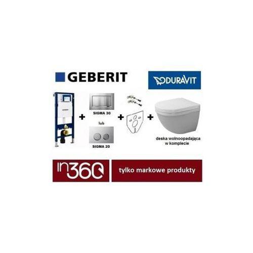 Geberit Duravit Starck 3 Zestaw Stelaż podtynkowy z miską WC wiszącą, deska w/o (111.320.00.5+111.815.00.1+115.883.KH.1+2227090000+0063890000) IN.000Z311 - produkt z kategorii- Stelaże i zestawy podtynkowe