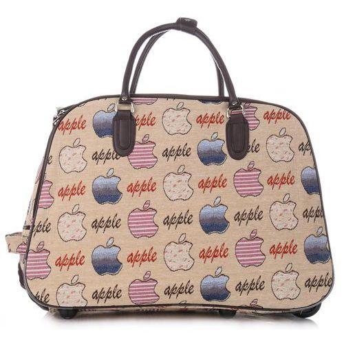 dbb7556c7302c Or&mi Torba podróżna na kółkach ze stelażem apple multikolor - beżowa (różne  wzory) 99,00 zł Or&mi Produkcja Włoska - znakomita torba podróżna z grubego  ...