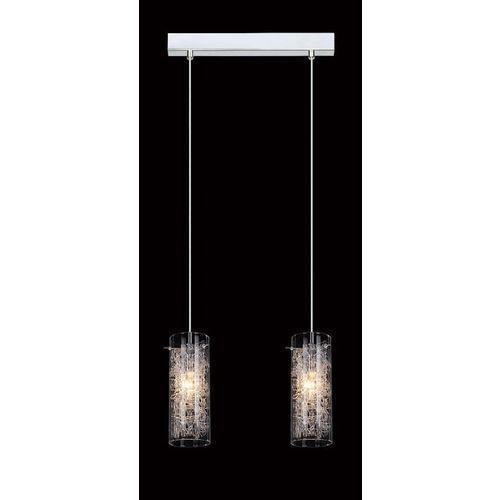 LAMPA wisząca IBIZA MDM1903/2 Italux szklana OPRAWA zwis TUBY z wzorkami chrom przezroczyste, MDM1903/2