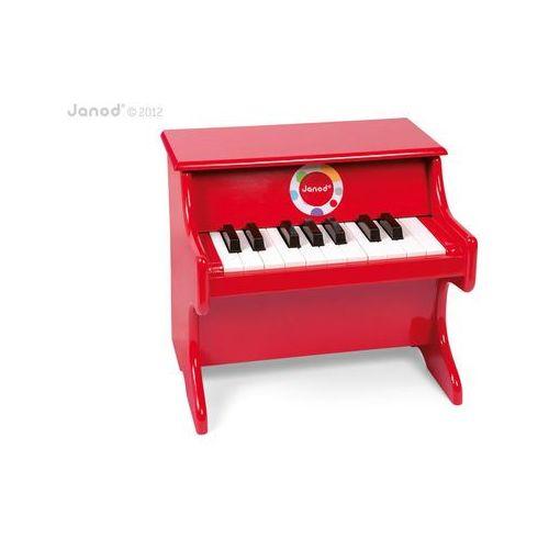 Janod - czerwone pianino confetti (3700217376222)