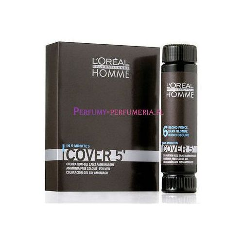 Homme Cover 5 Hair Color 3x50ml M Żel do koloryzacji 6 Dark Blond, L´Oreal Paris z Perfumeria Elnino