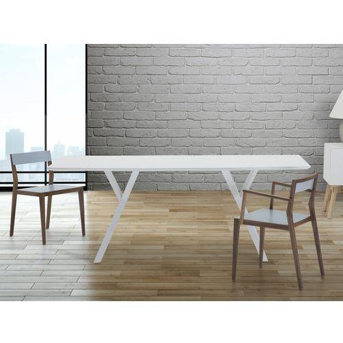 Stól do jadalni, kuchni, salonu - 180 cm - bialy - LISALA - produkt dostępny w Beliani