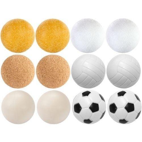 Piłeczki do piłkarzyków zestaw 12 sztuk różne rodzaje