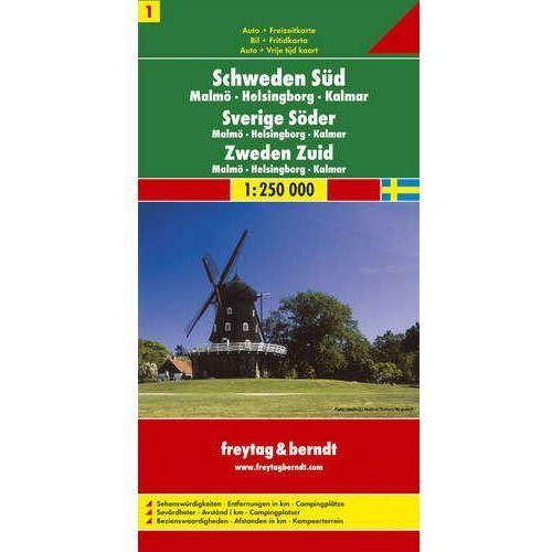 Szwecja cz.1 część południowa mapa 1:250 000 Freytag & Berndt (2010)